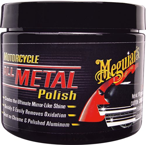 MEGUIAR'S MC20406 Motorcycle All Metal Polish, 6 Ounces