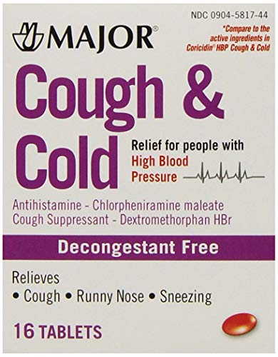 Major Cough and Cold, 16 Tablets each (Pack of 12)