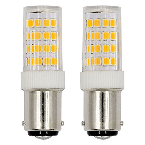 Ba15d LED Light Bulb Sewing Machine Bulb 5Watts Double Contact Bayonet Base Daylight White 6000k 120Volts T3/T4/C7/S6 LED Halogen Replacement Bulb {2pcs Pack)