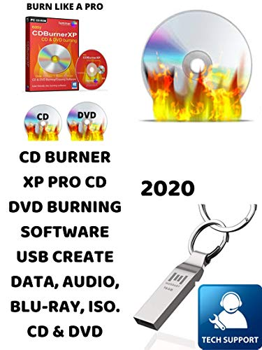 PRO CD/DVD BURNER XP USB + FREE DO-IT-YOURSELF VIDEO DVD BURN AND CREATE DATA, AUDIO, BLU-RAY, ISO. COMPATIBLE WITH MICROSOFT WINDOWS PC. Great for recording Movies, Music and saving Photos on CD/DVD.