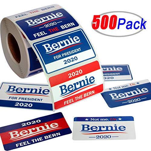 Six Senses Media 500Pcs Bernie 2020 Stickers ,Patriotic Election Stickers for Supporting Bernie for President ,Feel The Bern , Not me. US. -8 Patterns -Blue