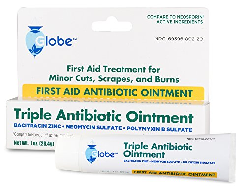 Globe Triple Antibiotic First Aid Ointment, 1 Oz. (Compare to Neosporin Active Ingredients) (1 Tube), White