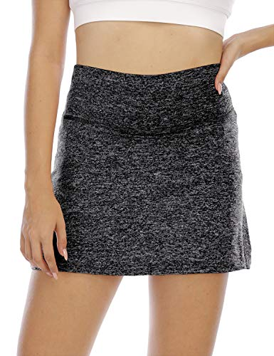 Golf Skirt,Cucuchy Athletic Tennis Skorts Skirts for Women with Pockets High Waisted Tummy Control Summer Volleyball Breathable Sports Clothing Breathable Double-Layers Shorts Black L
