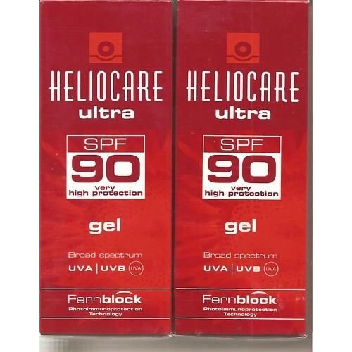 Pack 2x Heliocare Ultra Uvb/uva Spf 90 Gel 50ml Ship Worldwide by Heliocare
