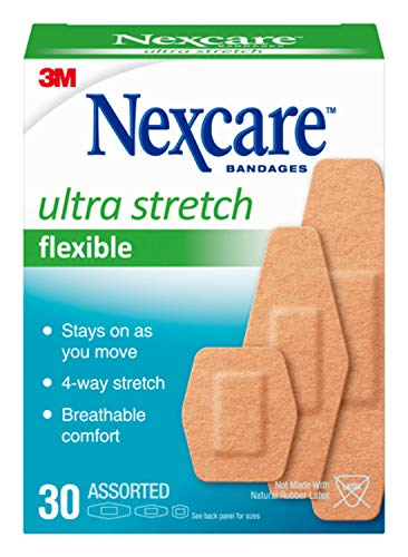Nexcare Soft 'n Flex Bandage, Breathable, Assorted Sizes, 30 Count