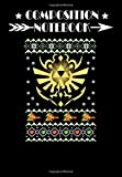 Composition Notebook: Ugly Christmas sweater for Zelda fan, Journal 6 x 9, 100 Page Blank Lined Paperback Journal/Notebook