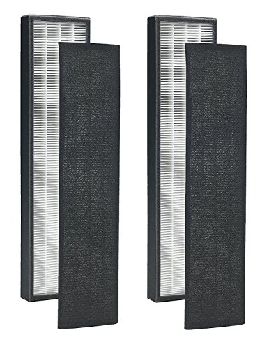 2 Pack True HEPA Replacement Filter for GermGuardian FLT5000/FLT5111 AC5000 Series Models AC5000E, AC5250PT, AC5300B, AC5350W by Seelong