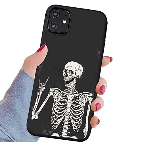 LuGeKe Halloween Skeleton Phone Case for iPhone 6 Plus/iPhone 6s Plus, Skull Fossil Patterned Boys Design Case Cover,Soft TPU Anti-Stratch Bumper Protective Cool Boys Man Phonecase(Gothic Skeleton)