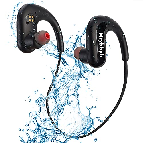 Waterproof Headphones for Swimming,IPX8 Waterproof 8GB MP3 Player Sports Swimming Headphones Wireless Bluetooth 5.0 Earbuds with Noise Cancelling MIC for Sport,Swimming,Running,Gym,Workout
