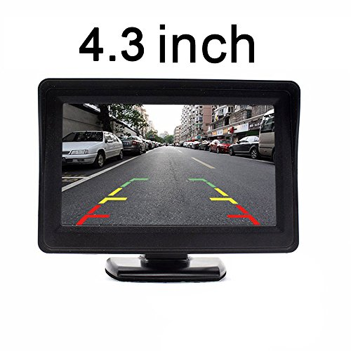 LYNN 4.3 Inch TFT LCD Screen Adjustable Car Monitor for Vehicle Backup Cameras Security CCTV Camera And Car DVR