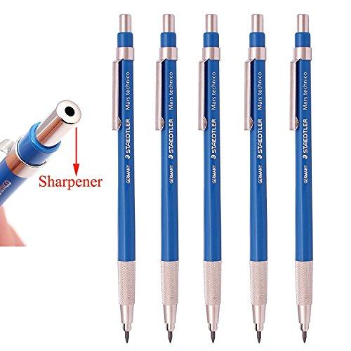 Staedtler Mars Technico 780C Mechanical Lead holder,clutch Pencil for Draft Drawing, Art Sketching Sharpener (Pack of 5)