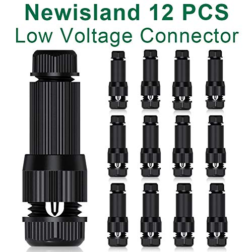 Low Voltage Fastlock Landscape Wire Connector 12-16 Gauge Cable Connectors for Landscape Path Lights Work with Malibu Paradise Moonrays and More (12 Pcs)