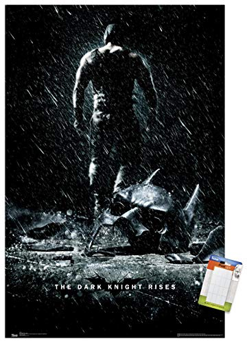 Trends International Poster Mount DC Comics Movie - The Dark Knight Rises - Bane, 14.725' x 22.375', Premium Poster & Mount Bundle