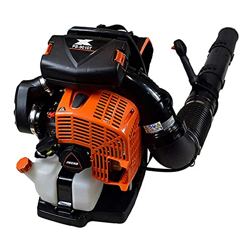 Echo PB-9010T 79.9 cc Backpack Blower Tube Mounted Throttle - Most Powerful Blower in The World - 1110 CFM - 220 MPH - Heavy-Duty Padded Backpack for All Day Comfort - Fan Intake Cools User's Back -