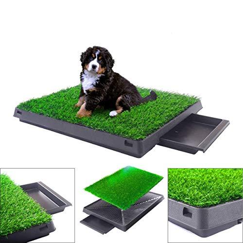 BRINGERPET Indoor Puppy Dog PET Potty Training Pee PAD MAT Tray Grass House Toilet W/Tray
