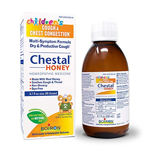 Boiron Children's Chestal Honey Cough Syrup, 6.7 Ounce, Homeopathic Medicine for Cough and Chest Congestion