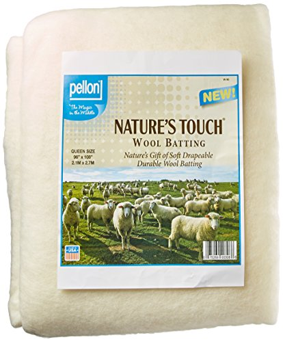 Pellon W-96 Queen Size Wool Batting, 96' by 108', White