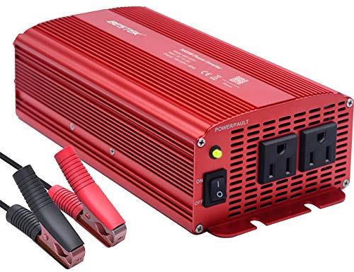 BESTEK Power Inverter 1000 Watt DC 12 Volt, Power Converter 1000w DC to AC Converter for Car