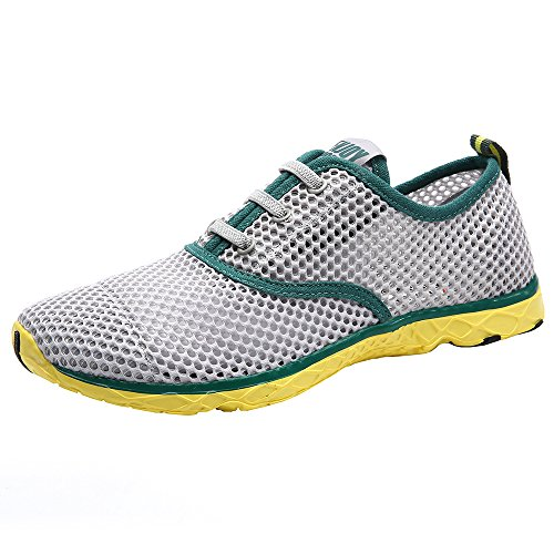 ALEADER Men's Quick Drying Aqua Water Shoes Green 12 D(M) US