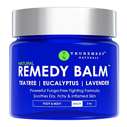 Remedy Tea Tree Oil Balm - Cream for Athletes Foot, Jock Itch, Ringworm, Eczema, Nail Issues, Rash, Skin Irritation - Ointment for Dry, Itchy Skin - Foot & Body Balm with Lavender & Eucalyptus - 2 Oz