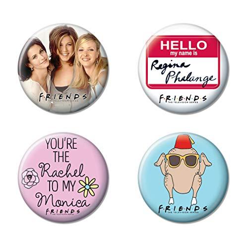 Ata-Boy Friends Assortment #4 Set of 4 1.25' Collectible Buttons