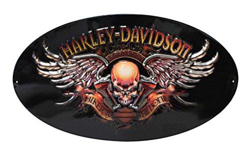 Ande Rooney 2010441 Harley Davidson Biker to The Bone Embossed Tin Sign
