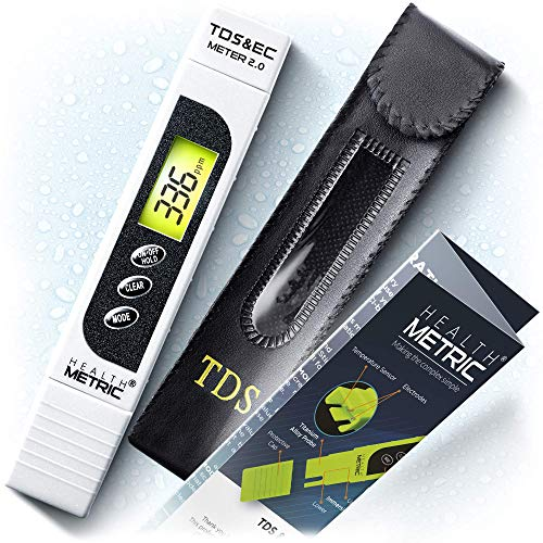 TDS Meter Digital Water Tester - 3 in 1 ppm EC and Temperature Test Pen | Easy to Use Water Purity Tester | Ideal for Testing RO Drinking Water Swimming Pool Hydroponics Aquarium & More | White