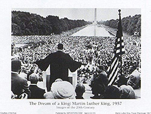 Buyartforless The Dream of a King: Martin Luther King, 1957, Images of The 20th Century 32x24 Art Print Poster Vintage Black and White Prayer Pilgrimage Washington DC Civil Rights Movement