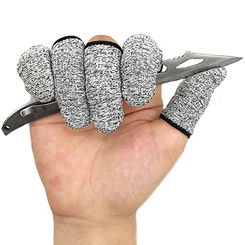 Finger Protector Finge Cots Finger Sleeves Glove Life Extender for Cuting, Building, Gardenning, Sculpturing, DIY Working (20 Count)