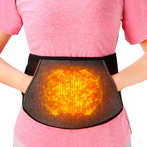 Heating pad for Back Pain Relief, Portable Abdominal Heated Waist Belt, Lower Back Brace Support, Cordless Fast Heated for Lumbar, Smart Far Infrared Heat Therapy Leg Cramps Relief Arthritic