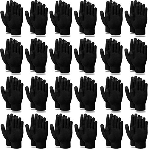 48 Pairs Winter Touchscreen Gloves Warm Soft Stretchy Knitted Texting Gloves for Women and Men