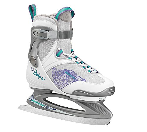 Rollerblade Bladerunner Ice Zephyr Women's Adult Ice Skates, White and Purple, Recreational, Ice Skates, US Size 8