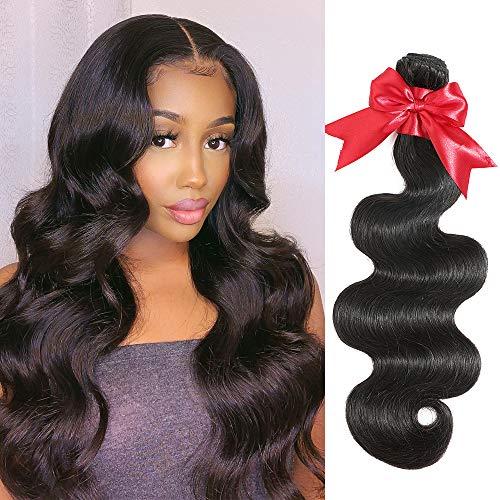 10A Brazilian Body Wave Bundles 24 Inch Human Hair 1 Bundle Unprocessed Virgin Body Wave Human Hair Weave Bundles (24)