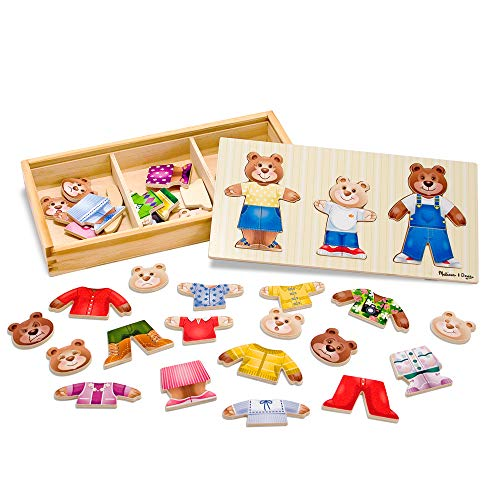 Melissa & Doug Bear Family Dress-Up Puzzle