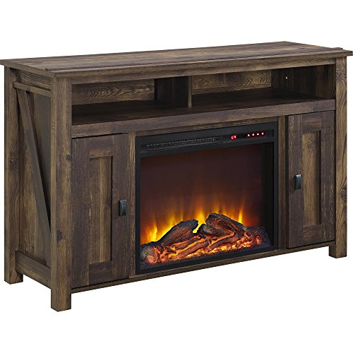 Ameriwood Home Farmington Electric Fireplace TV Console for TVs up to 50', Rustic