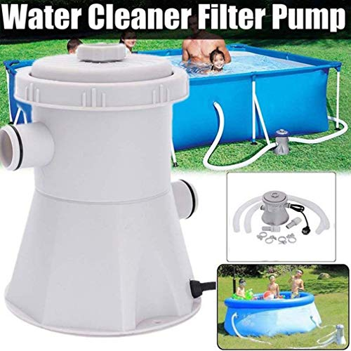 Pool Filter Pump,Clear Cartridge Filter Pump for Above Ground Pools & Inflatable Pools Cleaning Tools, 110-130V 300 Gallons/Hour, Full Accessories. (Filter Pump)