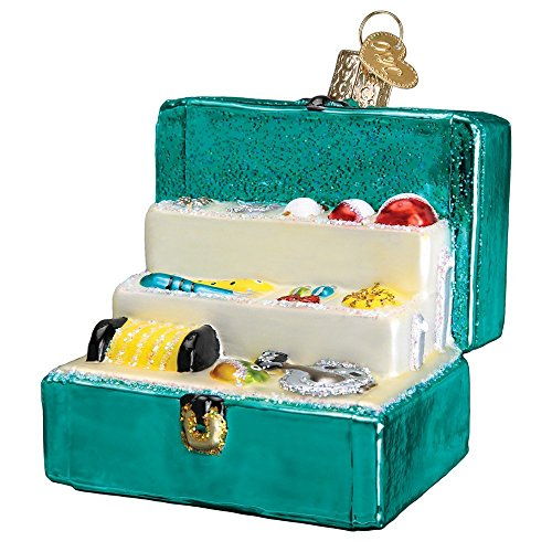 Old World Christmas Fisherman Collection Glass Blown Ornaments for Christmas Tree Tackle Box