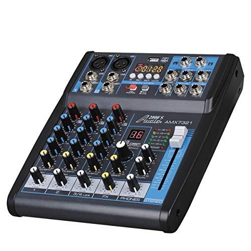 Audio 2000s Audio Mixer Sound Board (4-Channel Bluetooth)