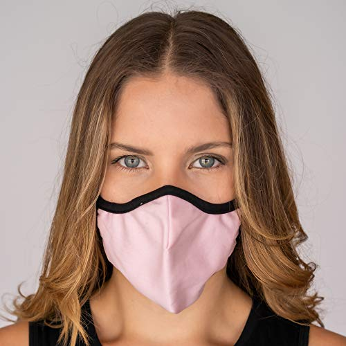Easy Breather, Washable, Filtered, Face Mask by No Headache - Pink, Medium