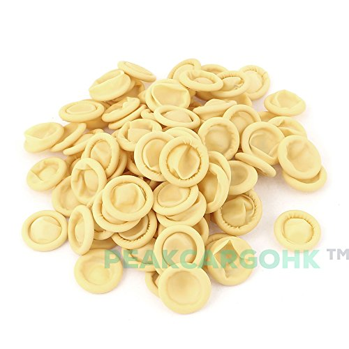 1000 pcs Nitrile Anti Static Rubber Finger Cots Natural Yellow Malaysia - Wound Protection or Industrial uses