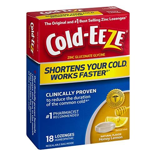 Cold-Eeze Lozenges All Natural Honey Lemon Flavor - 18 Ct., Pack of 3