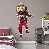 FATHEAD NCAA Ohio State Buckeyes Ohio State Buckeyes: Brutus Buckeye Mascot Wall Mural - Life Size, Multicolor - 1900-00501-002