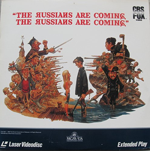Laserdisc THE RUSSIANS ARE COMING THE RUSSIANS ARE COMING with Carl Reiner, Eva Marie Saint, Alan Arkin, Brian Keith, Theodore Bikel, John Phillip Law and Jonathan Winters.