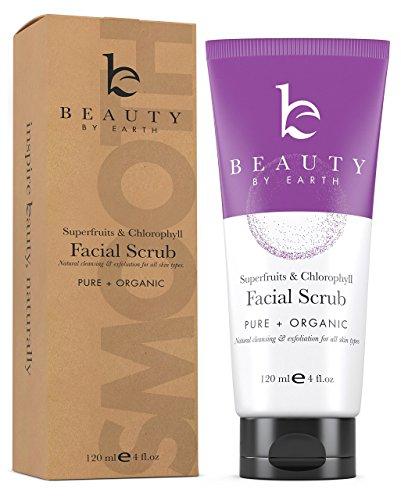 Face Scrub Exfoliating Face Wash - With Organic Aloe Vera, Gel Face Cleanser & Pore Exfoliator for Women & Men, Facial Scrub Microdermabrasion, Vegan Facial Wash to Cleanse & Brighten Skin