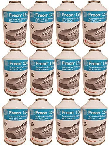Chemours Brand Automotive Freon R134a Refrigerant - 12oz Can (12)