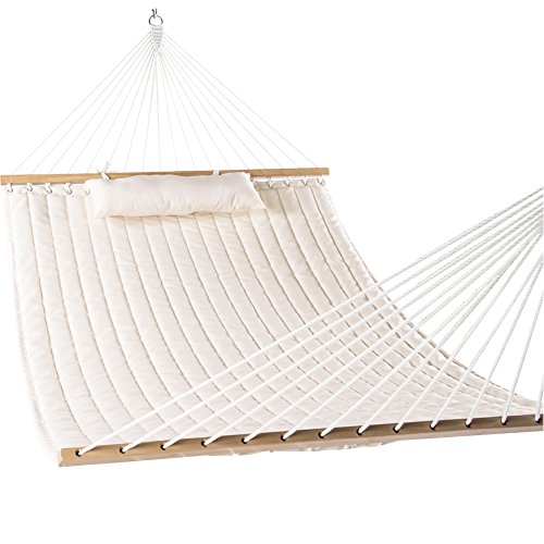 Lazy Daze Hammocks Double Quilted Fabric Swing with Pillow hammocks, 55'', Natural