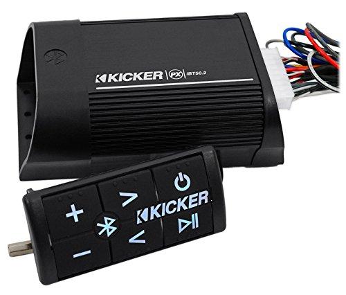 Kicker 40PXIBT502 2 Channel 15 Watts RMS Portable Bluetooth Weatherproof Car, Motorcycle, ATV, Boat, Motor Vehicle Audio Amplifier Amp