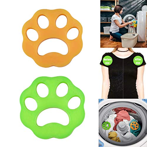 DKStarry Pet Hair Remover for Laundry,Dogs and Cats Hair Catcher for Washing Machine,Non-Toxic Safety Reusable Floating Pet Fur Catcher,The Laundry Lint and Fur Remover