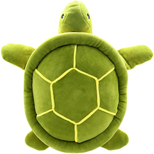 JESONN Realistic Stuffed Marine Animals Toys Turtle Plush Tortoise (Green, 12.6 Inches)