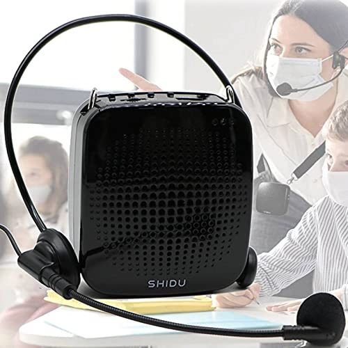 Voice Amplifier 15W Portable Microphone Speaker Headset-2000mAh Rechargeable Mini Compact Megaphone Mic Amplifier System with Waistband Original Sound Pa Amp for Teachers, Classroom, Singing ect